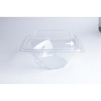 Insalatiera RPET quadrata trasparente 1000ml 200x200mm H80mm