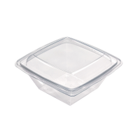 Insalatiera PET quadrata trasparente 1 000ml 195x195mm H70mm