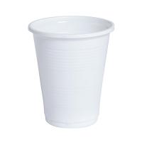 Bicchiere PP bianco 180ml Ø70mm  H80mm