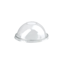 Coperchio a cupola PET con foro  Ø77mm  H37mm