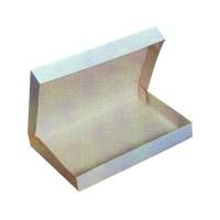 Scatola per vassoio pranzo in cartone bianco  320x420mm H60mm
