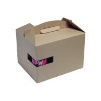 "Scatola ""LunchNGo"" in cartone kraft con manici  300x200mm H175mm"