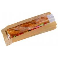 Sacchetto per panino in carta scura, con finestra  120x40mm H340mm