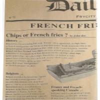 Carta per alimenti antiunto scura, decorazione stampa di giornale  380x400mm