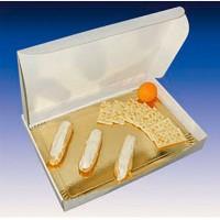 Scatola per pranzo d'asporto in cartone bianco rinforzato  435x335mm H60mm