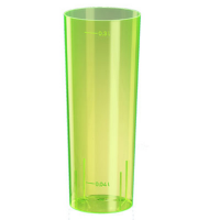Bicchiere a tubo fluo giallo 300ml Ø59mm  H152mm